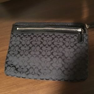 Coach signature black accessory bag